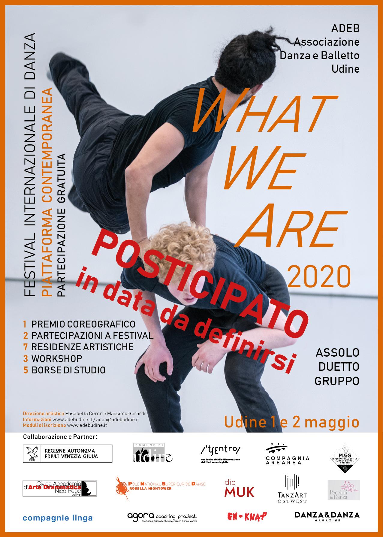 WhatWeAre 2020 posticipato