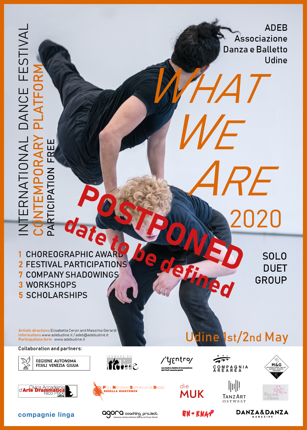 What We Are 2020 POSTPONED